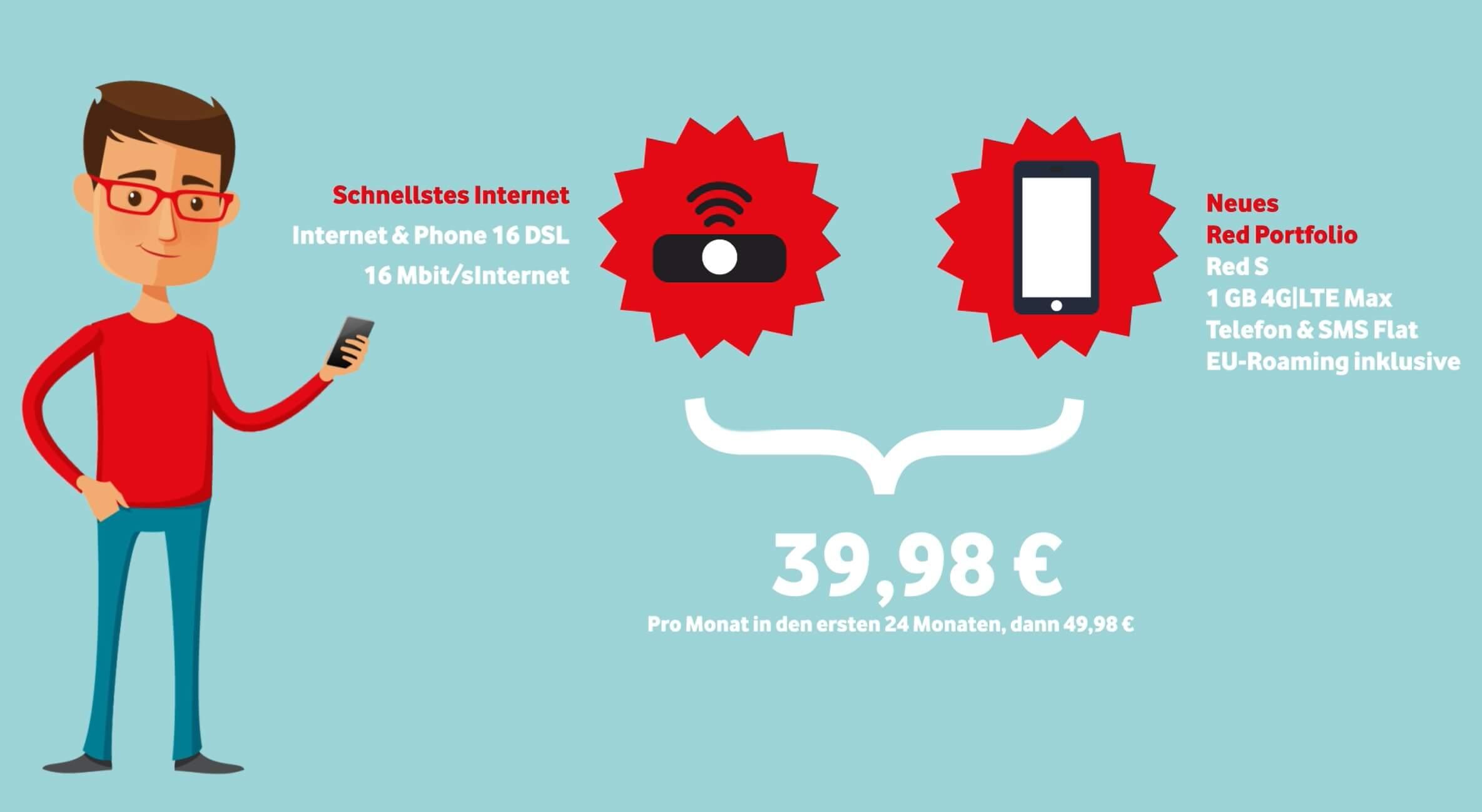 GigaKombi Vertrag für 39,98€ DSL Zuhause + Simkarte Komplettangebot